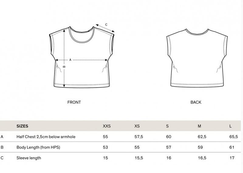 size chart new ánima shirts